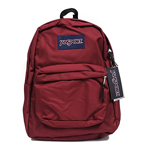 JanSport Backpack Superbreak School Backpack Original Select Color: Viking Red, 1550 Cubic inches (00-C2RSQY-DE)