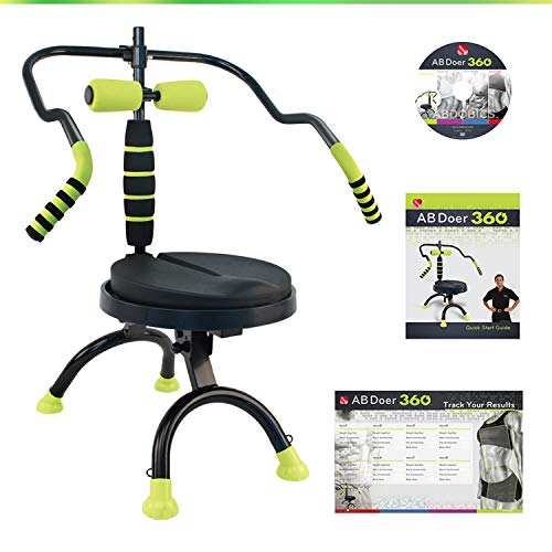 AB Doer 360 Basic Kit, The Abs Workout Equipment for Total Core Exercise, Fat Burning, Toning and Fitness at Home