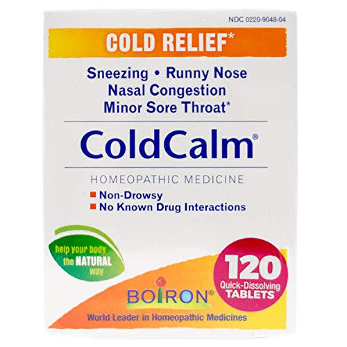 Boiron Coldcalm Tablets for Cold Relief, 60 Count (Pack of 2)