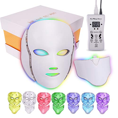 Portable L-E-D   L-I-G-H-T   T-H-E-R-A-P-Y   M-A-S-K, Machine for Home Use   7 Colors