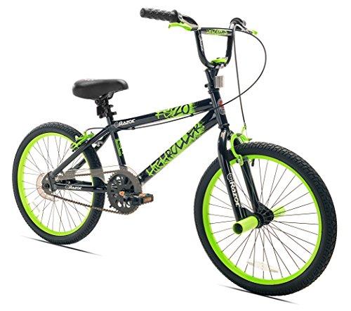 Razor High Roller BMX/Freestyle Bike, 20-Inch Wheel, Black/Green