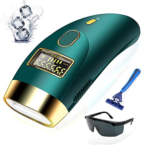 Zarlbol Permanent IPL Hair Removal for Women and Men, 999,999 Flashes Automatic Ice Compress/Painless Laser Hair Removal Device for Bikini/Legs/Facial/Armpits/Arm/Body