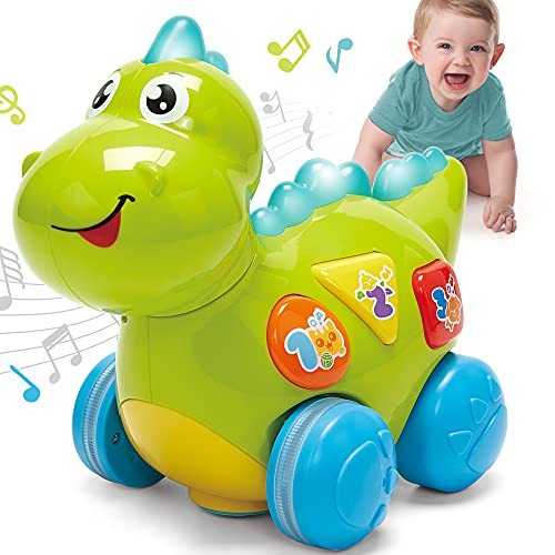 Baby Toys 12-18 Months Musical Dinosaur Learning Baby Toys 6 to 12 Months, Lights Music Toys for 1 Year Old Boy Girls Toddler Toys Crawling Cognitive Learning Developmental Toys