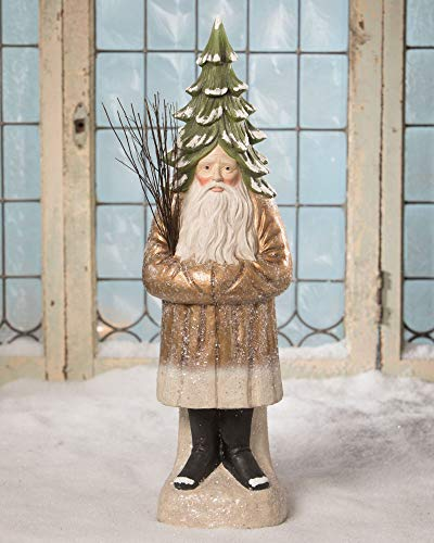 Crafted Creations 24' Gold and Green Old Belsnickle Christmas Decor - Large