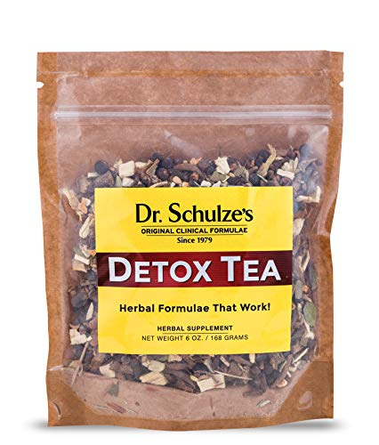 Dr. Schulze's   Detox Tea   All Purpose Herbal Tonic   Powerful Digestive Stimulant   Dietary Supplement   Ultimate Liver Cleanse   Helps Eliminate Gas & Indigestion   Release Toxins   6 Oz. Pack