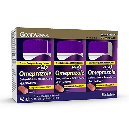 GoodSense Omeprazole Delayed Release Tablets 20 mg, 42 Count