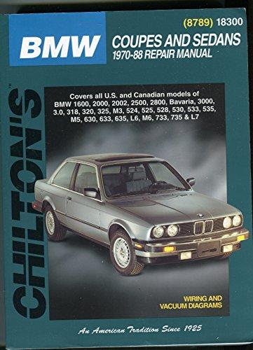 Chilton BMW COUPES & SEDANS 70-88 Total Car Care Repair Manual