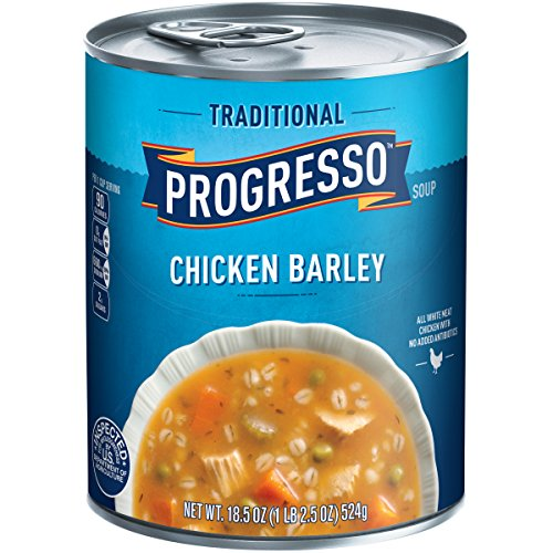 Progresso Low Fat Traditional Chicken Barley Soup 18.5 oz Can