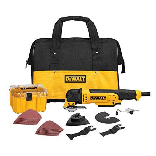 DEWALT Oscillating Tool Kit, Corded, 3-Amp, 29 Pieces (DWE315K)