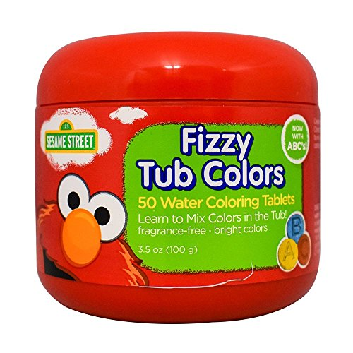 Sesame Street Fizzy Tub Colors 3.5 Ounce (50 Tablets)