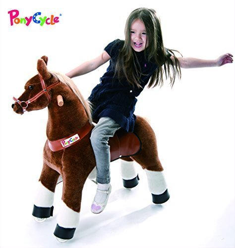 Smart Gear Pony Cycle Chocolate, Light Brown, or Brown Horse Riding Toy: 2 Sizes:  World's First Simulated Riding Toy for Kids Age 3-5 Years Ponycycle Ride-on Small