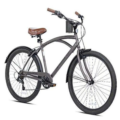New 26' Mens Kent Bayside 7 Speed Bicycle Shimano Steel Frame Hot Rod Cruiser
