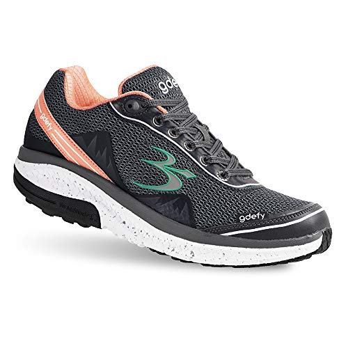 Gravity Defyer Women's G-Defy Mighty Walk Athletic Shoes 10.5 W US - Women's Walking Shoes for Heel Pain, Foot Pain, and Planatar Fasciitis Shoes Gray, Pink