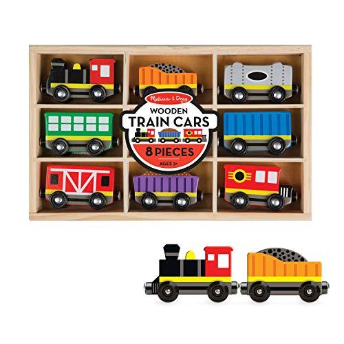 Melissa & Doug Wooden Train Cars (8 pcs)
