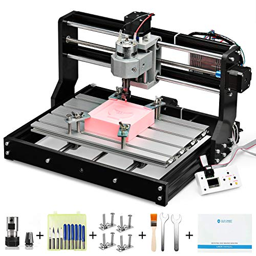 Genmitsu CNC 3018-PRO Router Kit GRBL Control 3 Axis Plastic Acrylic PCB PVC Wood Carving Milling Engraving Machine with Offline Controller, XYZ Working Area 300 x 180 x 45mm