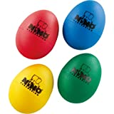 Nino Percussion Plastic Egg Shaker Set, 4 Pieces - For Classroom Music or Playing at Home, 2-YEAR WARRANTY (NINOSET540)