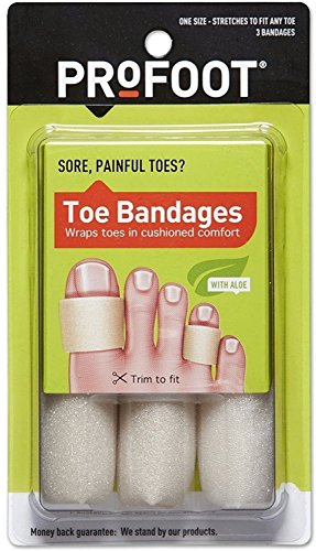 Profoot Care Toe Bandage Of 4 Inches Length, Medium Size - 3 Ea / Pack, (Pack of 5)