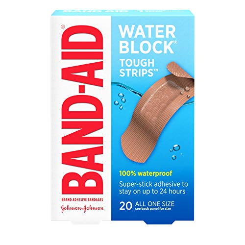 BAND-AID Waterproof Tough-Strips Bandages 20 ea (Pack of 3)