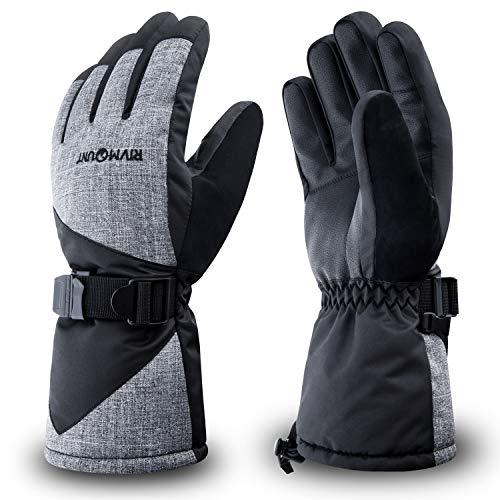 RIVMOUNT Winter Ski Gloves Men Women Waterproof 3M Thinsulate Gloves Keep Warm in Cold Weather RSG601