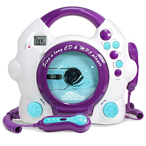 Kids Karaoke Machine - CD & MP3 Player Sing-A-Long Music Player with 2 Microphones