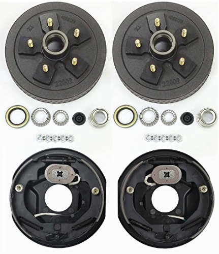 LIBRA Trailer 5 on 5' B.C. Hub Drum Kits with 10' x2-1/4 Electric Brakes for 3500 Lbs Axle