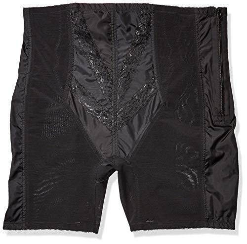 Rago Women's Extra Firm Zippered High Waist Long Leg Shaper, Black, Large (30)