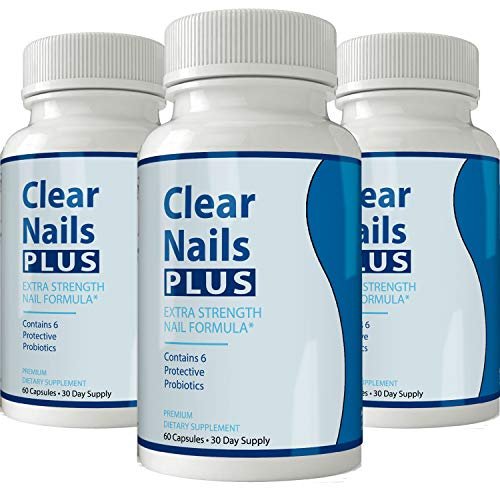 Clear Nails Plus - Antifungal Probiotic Pills - 60 Capsules - Supplement (3 Month Supply)