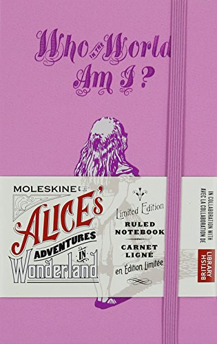 Moleskine Limited Edition Alice in Wonderland Notebook, Hard Cover, Pocket (3.5' x 5.5') Ruled/Lined, Pink Magenta, 192 Pages