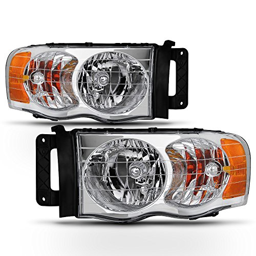 ACANII - For 2002 2003 2004 2005 Dodge Ram 1500 2500 3500 Truck Headlights Headlamps Assembly Driver + Passenger Side