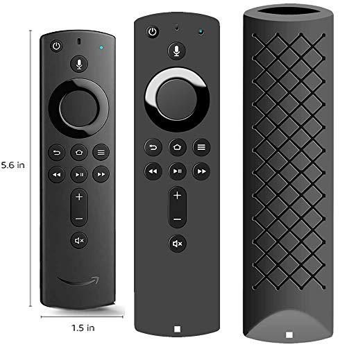 Covers for All-New Alexa Voice Remote for Fire TV Stick 4K, Fire TV Stick (2nd Gen), Fire TV (3rd Gen) Shockproof Protective Silicone Case - Black