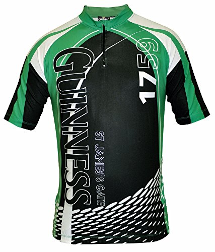 Guinness Cycling Jersey White,Green & Black