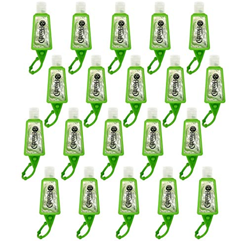 Hand Sanitizer Gel Travel Size, 20 Pack Mini Pocket Size Gel Sanitizer Keychains, Antibacterial Disinfectant Kills Germs, 1 Ounce