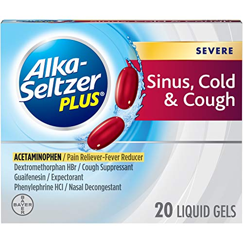 Alka-Seltzer Plus Severe Sinus, Cold & Cough Liquid Gels 20ct