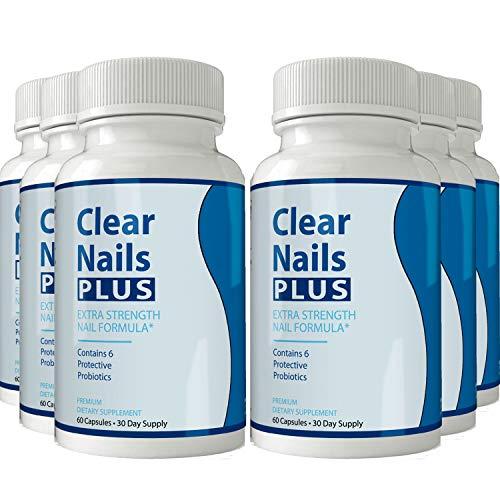 Clear Nails Plus - Antifungal Probiotic Pills - 60 Capsules - Supplement (6 Month Supply)