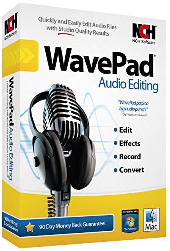 NCH Software Wavepad 6 Audio Editing [CD-ROM] Win 10,8.1,8 7, XP v2017 [Latest Version]