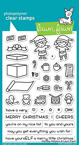 Lawn Fawn LF1767 Holiday Helpers 4x6 Clear Stamp Set
