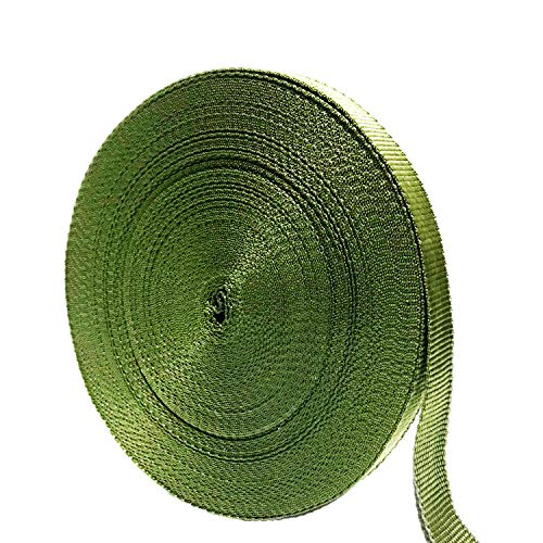 SN28 Green Tree Tie Strap 3/4'' x 100' Garden Tie for Staking and Guying, Soft Garden Tie Plant Tree Tie Webbing, 1,500 Lbs Strength