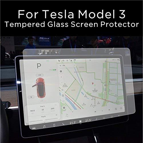 INNOSURE Matte Tesla Model 3 Model Y Screen Protector, 9H Anti-glare 0.3mm Tempered Glass Screen Protector for Tesla Model 3 Model Y Car SUV 15' Screen Navigator Center Console