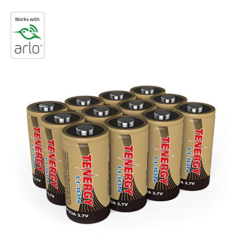 Arlo Certified Tenergy 3.7V Rechargeable Battery for Arlo Security Cameras (VMC3030/VMK3200/VMS3330/3430/3530) 650mAh UL UN Certified -12 Pack