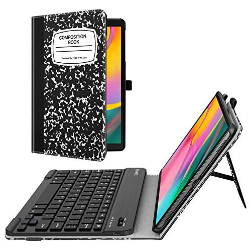 Fintie Folio Keyboard Case for Samsung Galaxy Tab A 10.1 2019 Model SM-T510/T515/T517, Premium PU Leather Stand Cover with Removable Wireless Bluetooth Keyboard, Composition