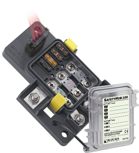 Blue Sea Systems Safety HUB Fuse Block 100 RBS