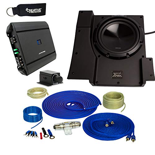 Alpine SBV-10-WRA 10-Inch Subwoofer for 2007-2018 Jeep Wrangler with S-A60M Amplifier, Wire kit