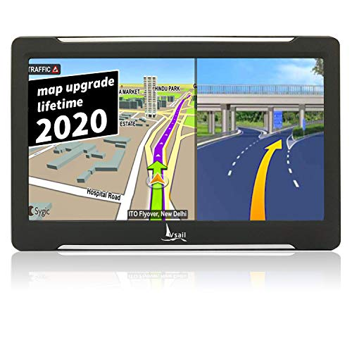 GPS Navigation for Car 7-Inch Hd Capacitive Screen Free Lifetime Map Updates Camera Speed Warning