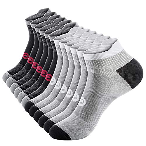 Ankle Compression Socks for Men and Women (6 Pairs), Low Cut Running Short Compression Plantar Fasciitis Socks Women with Ankle Support for Cyling, Athletic,achilles tendon