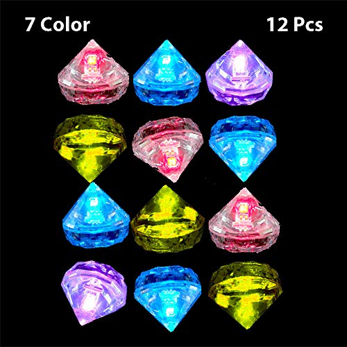 Reusable Multi Color Ice Cubes Simulation Ice Cube for Halloween Party Wedding Club Bar Champagne Tower Decoration