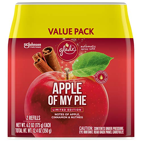 Glade Automatic Spray Refill, Air Freshener for Home and Bathroom, Apple of My Pie, 6.2 Oz, 2 Count