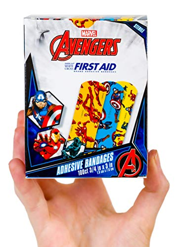 Official Marvel Comics Sterile Adhesive Bandages for Kids (100 Count)