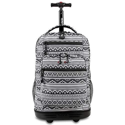 J World New York Sundance Rolling Backpack Girl Boy Roller Bookbag, Tribal, One Size