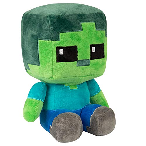 JINX Minecraft Crafter Zombie Plush Stuffed Toy, Multi-Colored, 8.75' Tall