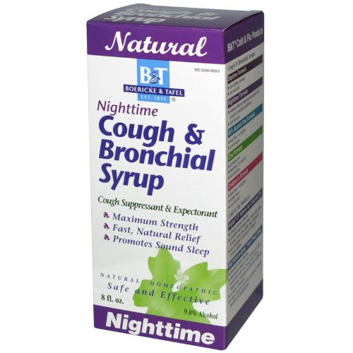 Nighttime Cough Bronchial Syrup Homeopathic Cough Suppressant (8 Fluid Ounces)